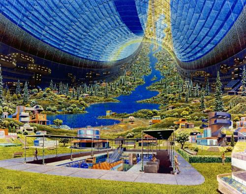 Toroidal Colonies Population: 10,000Interior view. Art work: Don Davis.