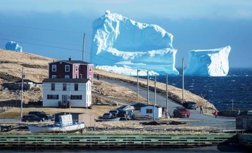 iceberg Ferrlyand, Newfoundland, Canada